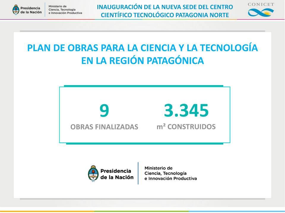 Plan de obras para la ciencia y la tecnología en Río Negro