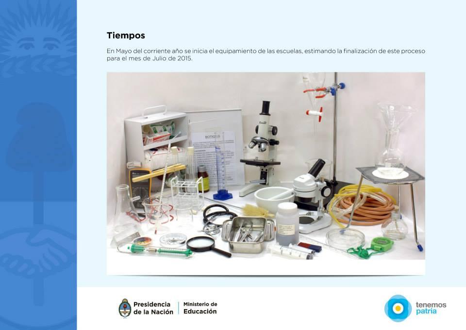Plan Nacional Ciencias Naturales Para Todos. Para incentivar a los chicos en investigación y formación científica.