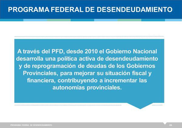Programa Federal de Desendeudamiento de las Provincias