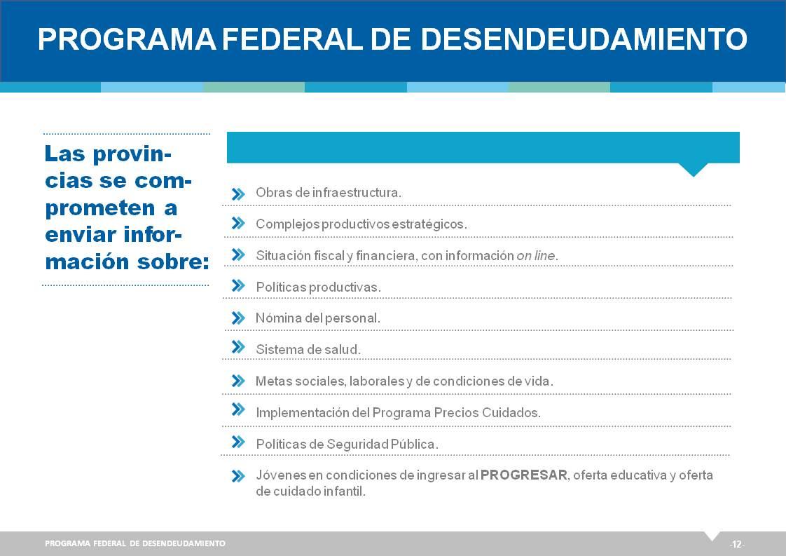 Programa Federal de Desendeudamiento para las Provincias