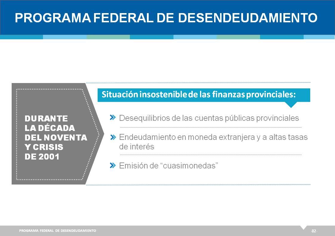 Programa Federal de Desendeudamiento para las Provincias.