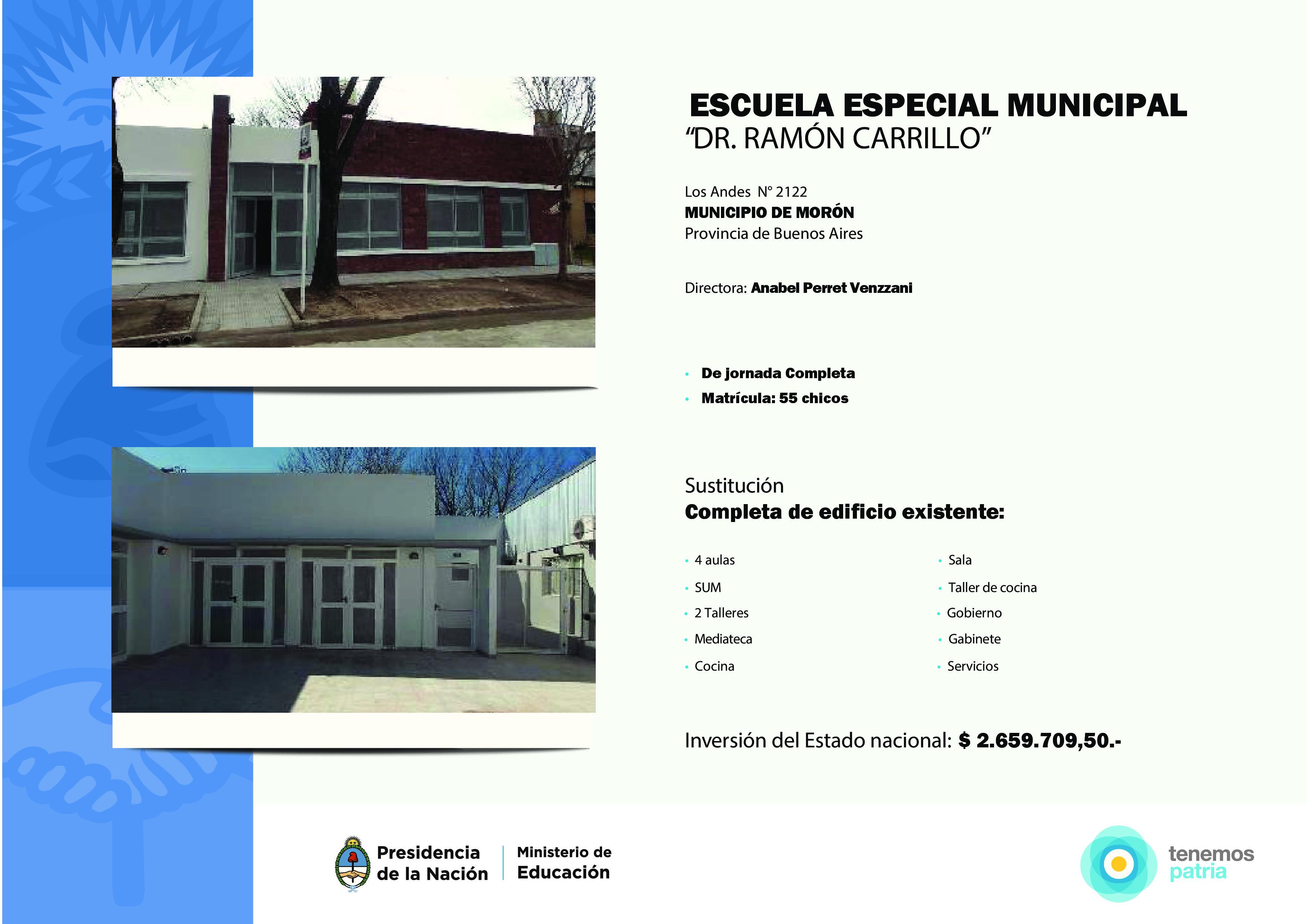 """Nuevo edificio para la Escuela Especial """"Carrillo"""" en Morón."""