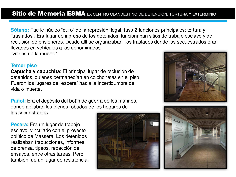 Inauguramos del Sitio de Memoria en la sede de la ex ESMA