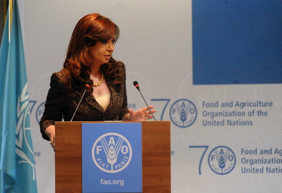 Cristina en Conferencia de ONU para Alimentación y Agricultura