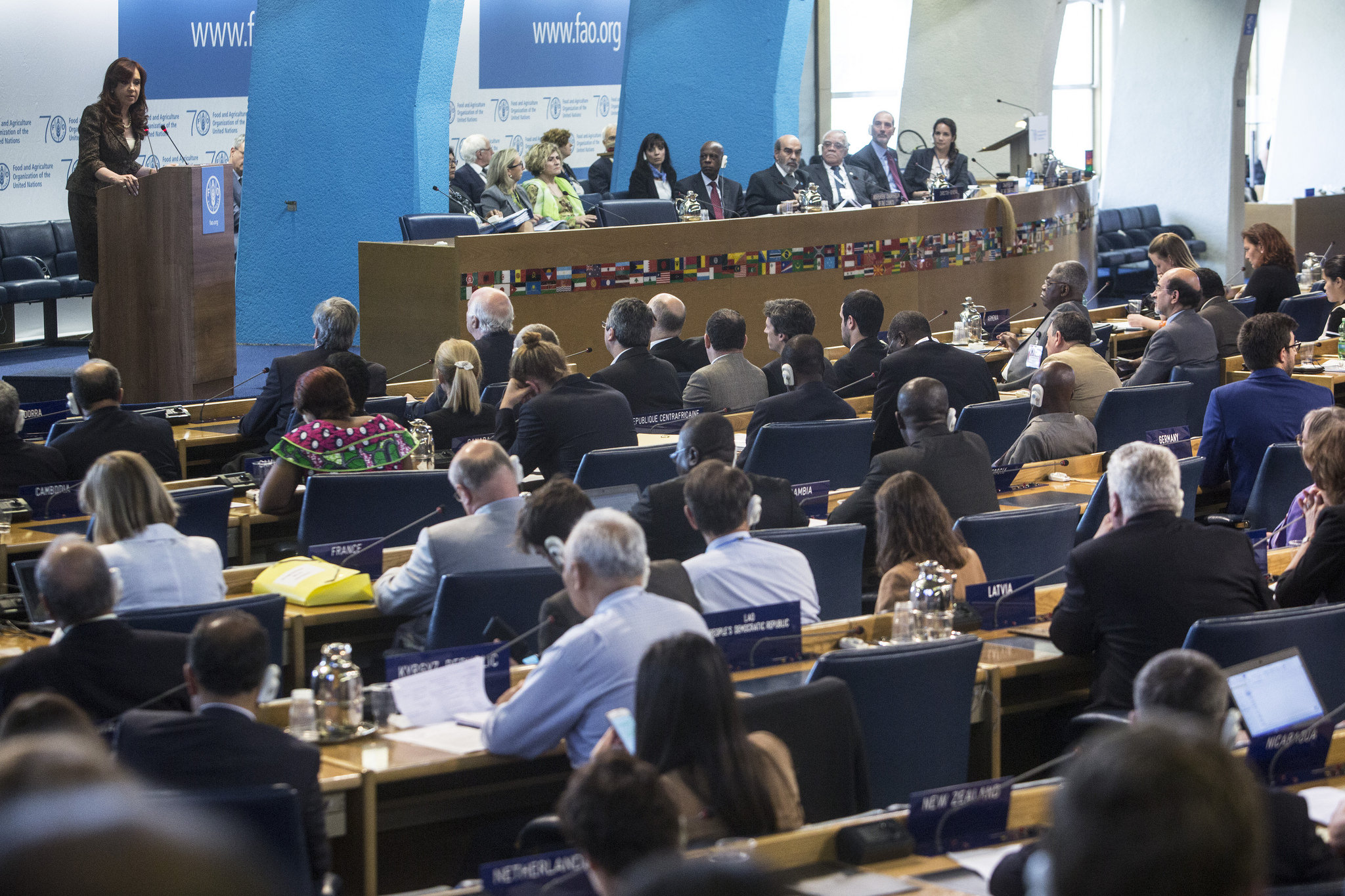 Cristina en Conferencia de ONU para Alimentación y Agricultura.