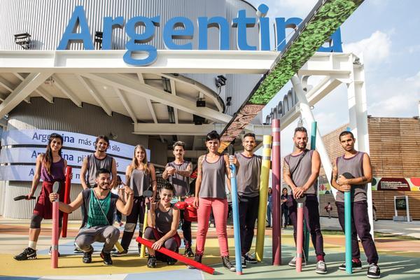 CFK en el Pabellón Argentino de la Expo de Milán.