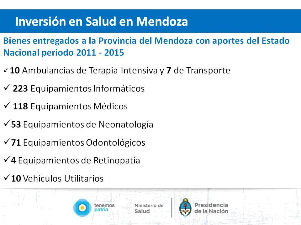Mendoza - Salud.