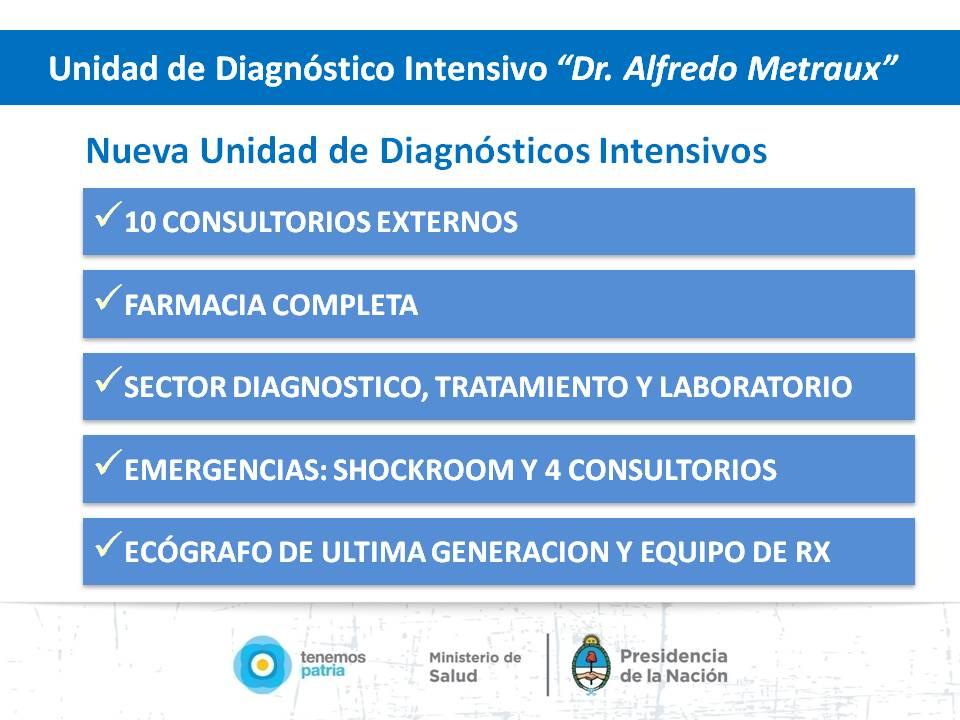Inauguración Unidad de Diagnostico Intensivo en Maipú, Mendoza.