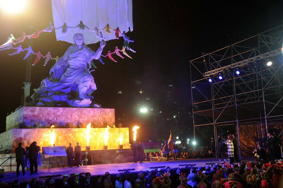 Inauguramos el monumento a Juana Azurduy