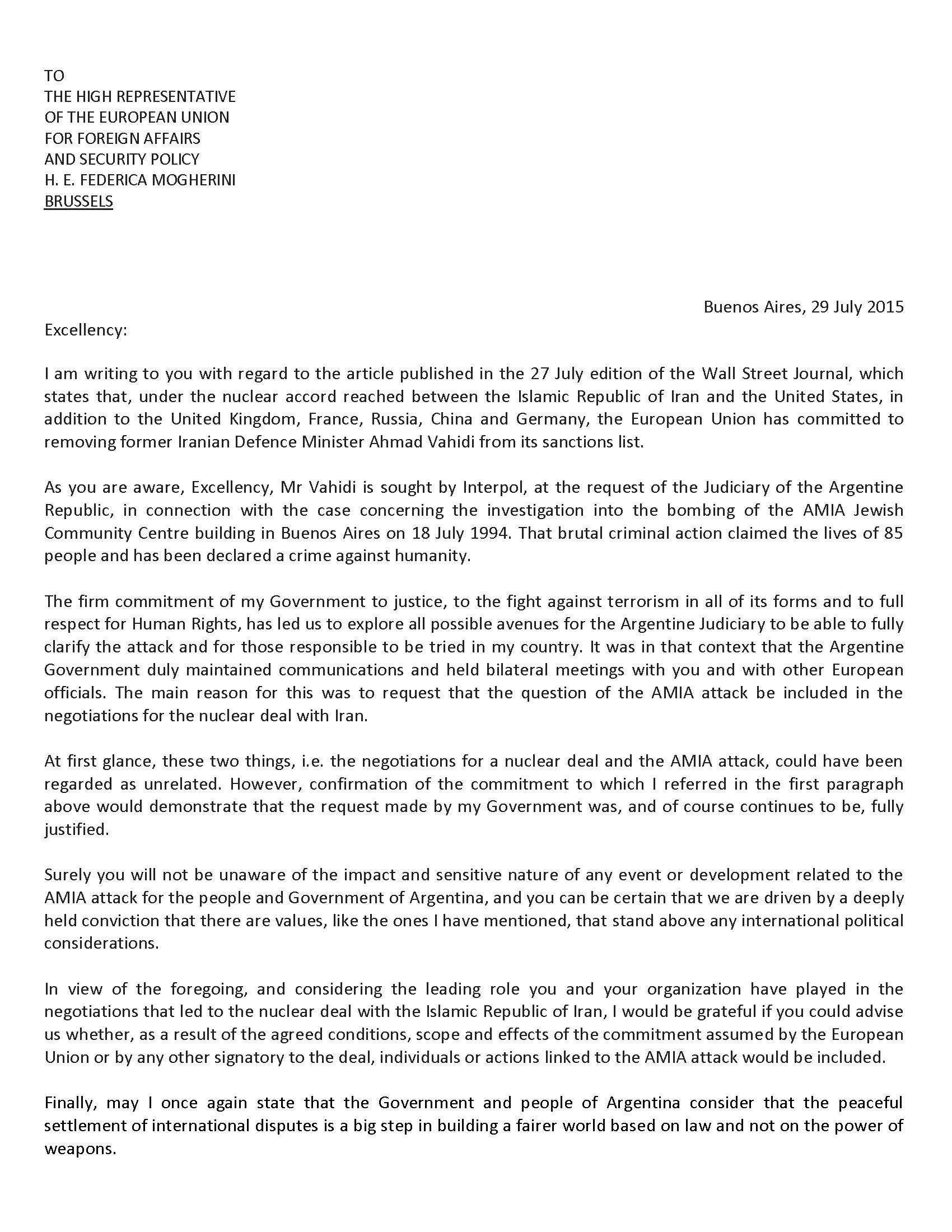 Nota a Mogherini en ingles (1)