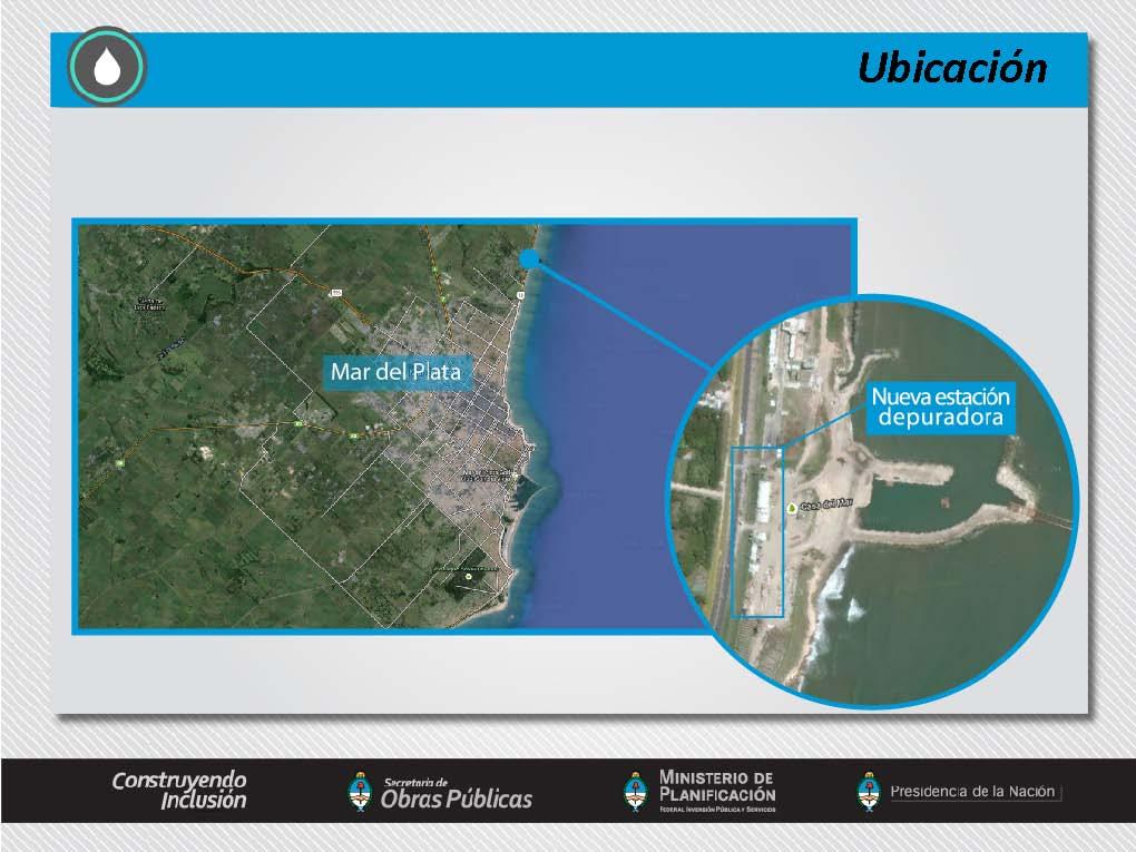 Nueva planta depuradora de líquidos cloacales de la ciudad de Mar del Plata