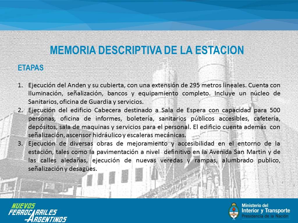 Inauguramos la estación Rosario Sur de la línea Mitre