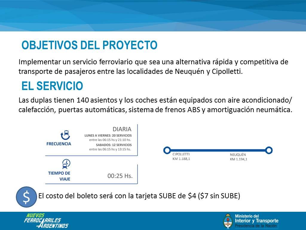 """Pusimos en marcha el """"Tren del Valle"""" Neuquén - Cipoletti"""