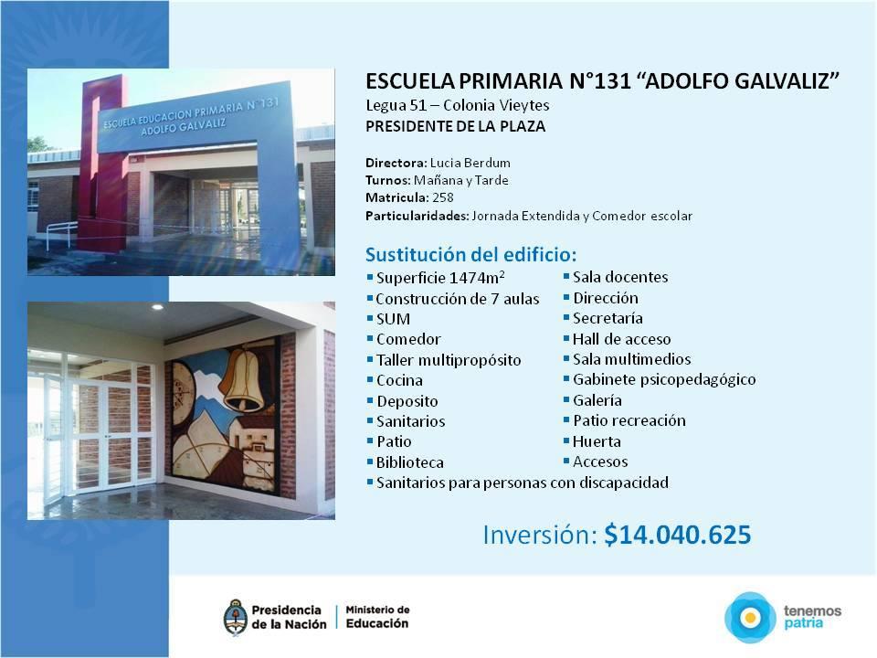 Inauguración EEP Nº 131 en Presidencia de la Plaza, Provincia de Chaco.