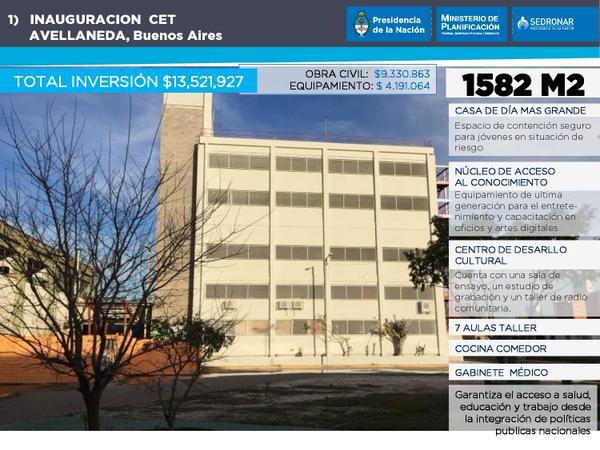 La nueva Casa Educativa Terapéutica de @SEDRONAR en Villa Tranquila, Avellaneda, la más grande del pais.