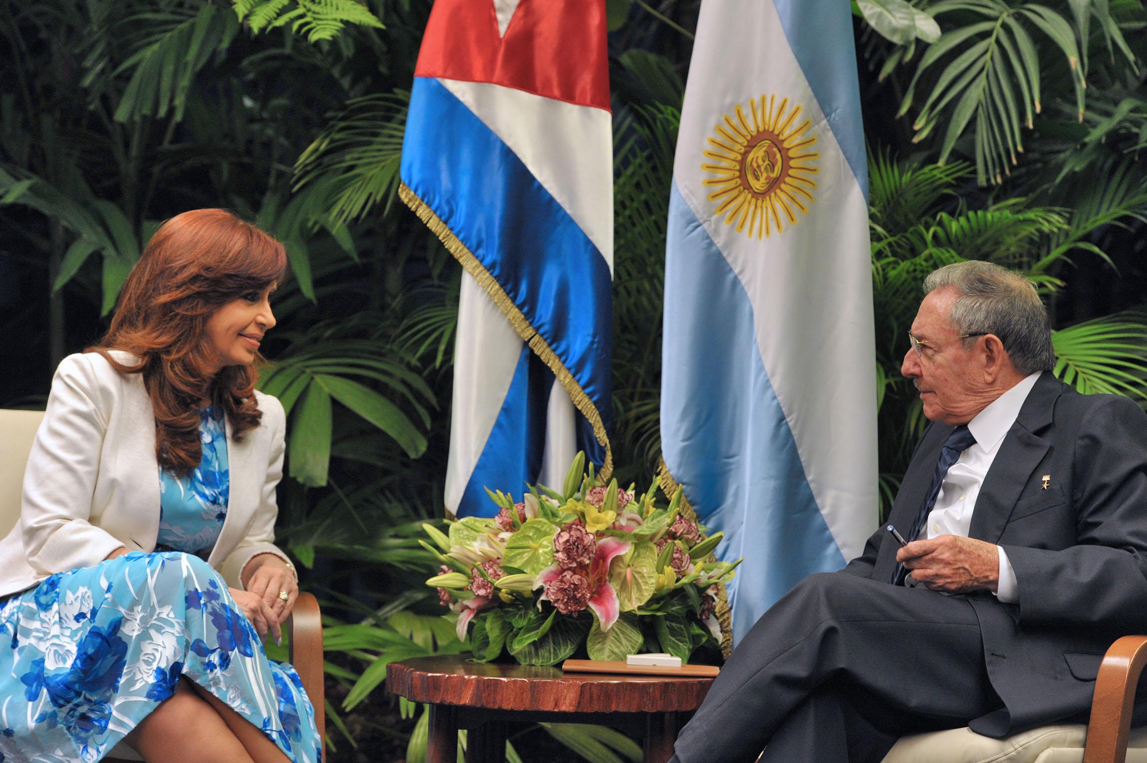 Encuentro con Raúl Castro en el Palacio de la Revolución.
