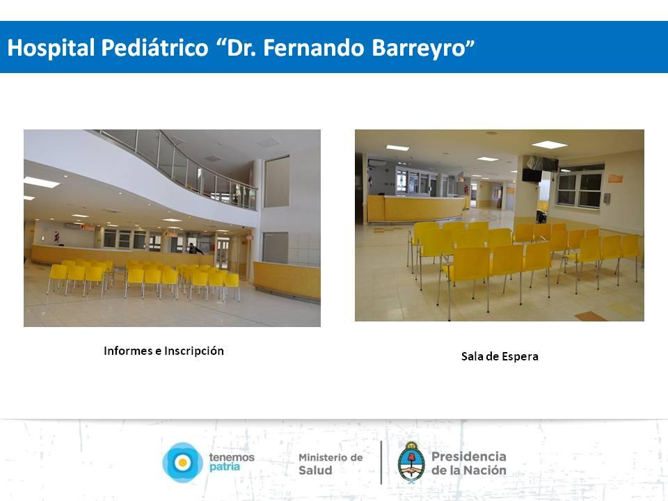 "Posadas: Nuevo hospital pediátrico ""Fernando Barreyro""."