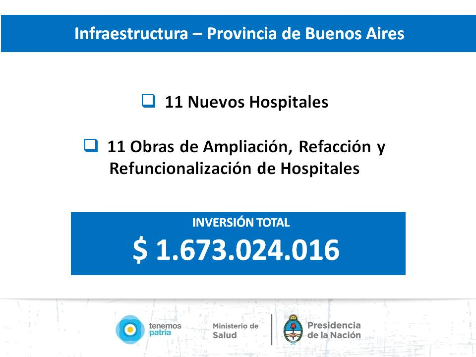 Programas Sanitarios en la Provincia de Buenos Aires.