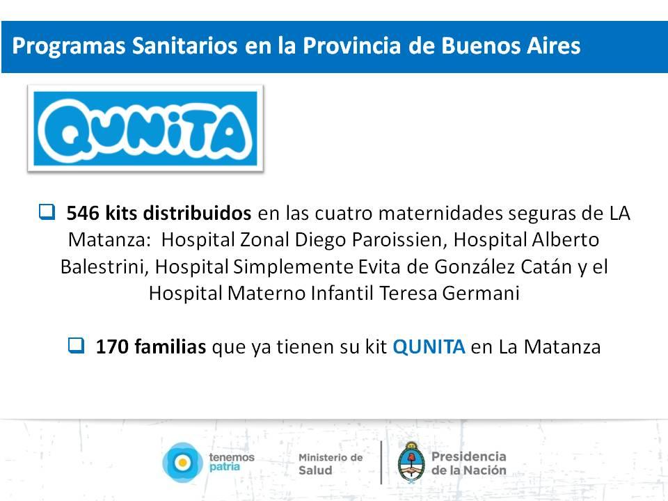 Programas Sanitarios en la Provincia de Buenos Aires