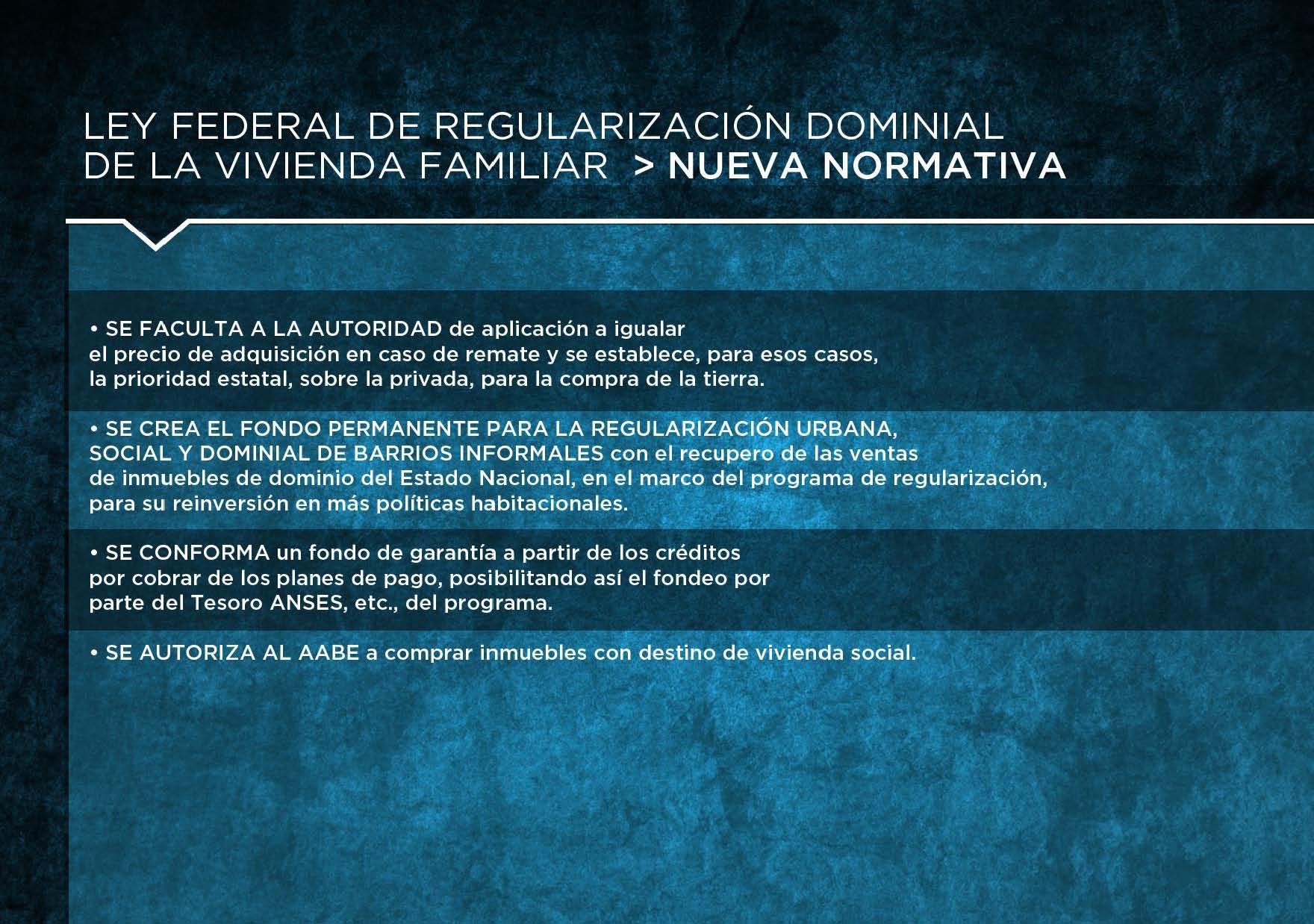 Presentamos el Plan Federal de Regularización Dominial de la Vivienda Familiar.