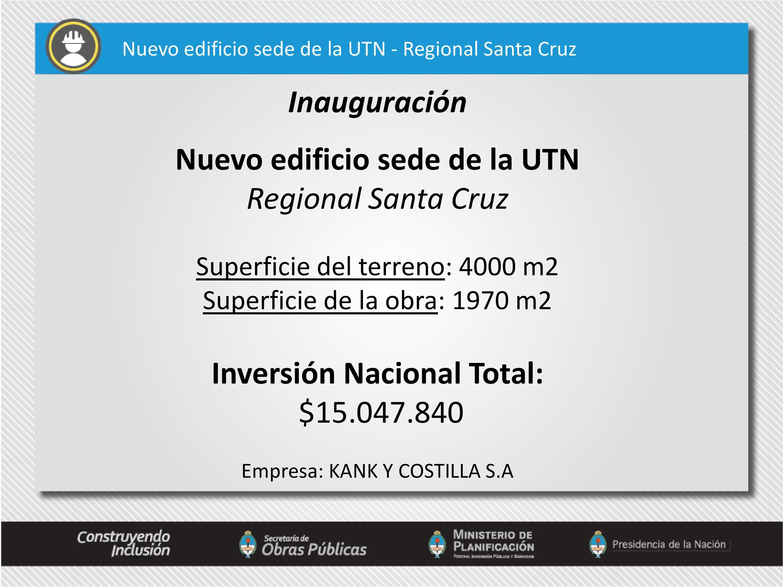 Universidad Tecnológica Nacional - Santa Cruz.