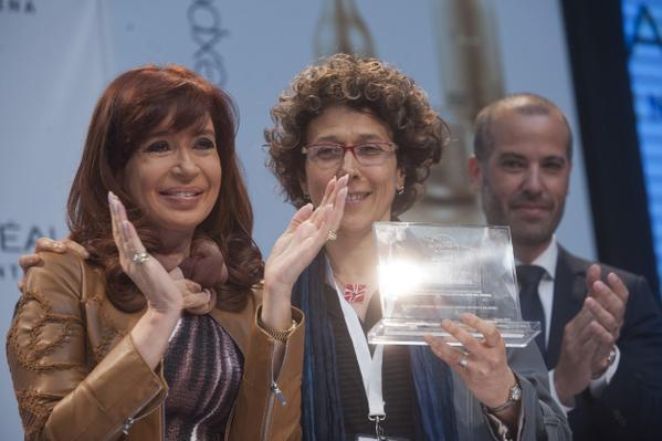 Andrea Gamarnik, galardonada con el Premio internacional L'Oréal-UNESCO