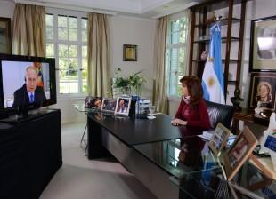 Videoconferencia Cristina - Putin