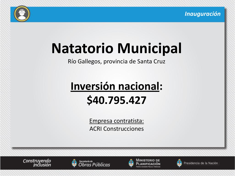 Natatorio Municipal en Río Gallegos, Santa Cruz.