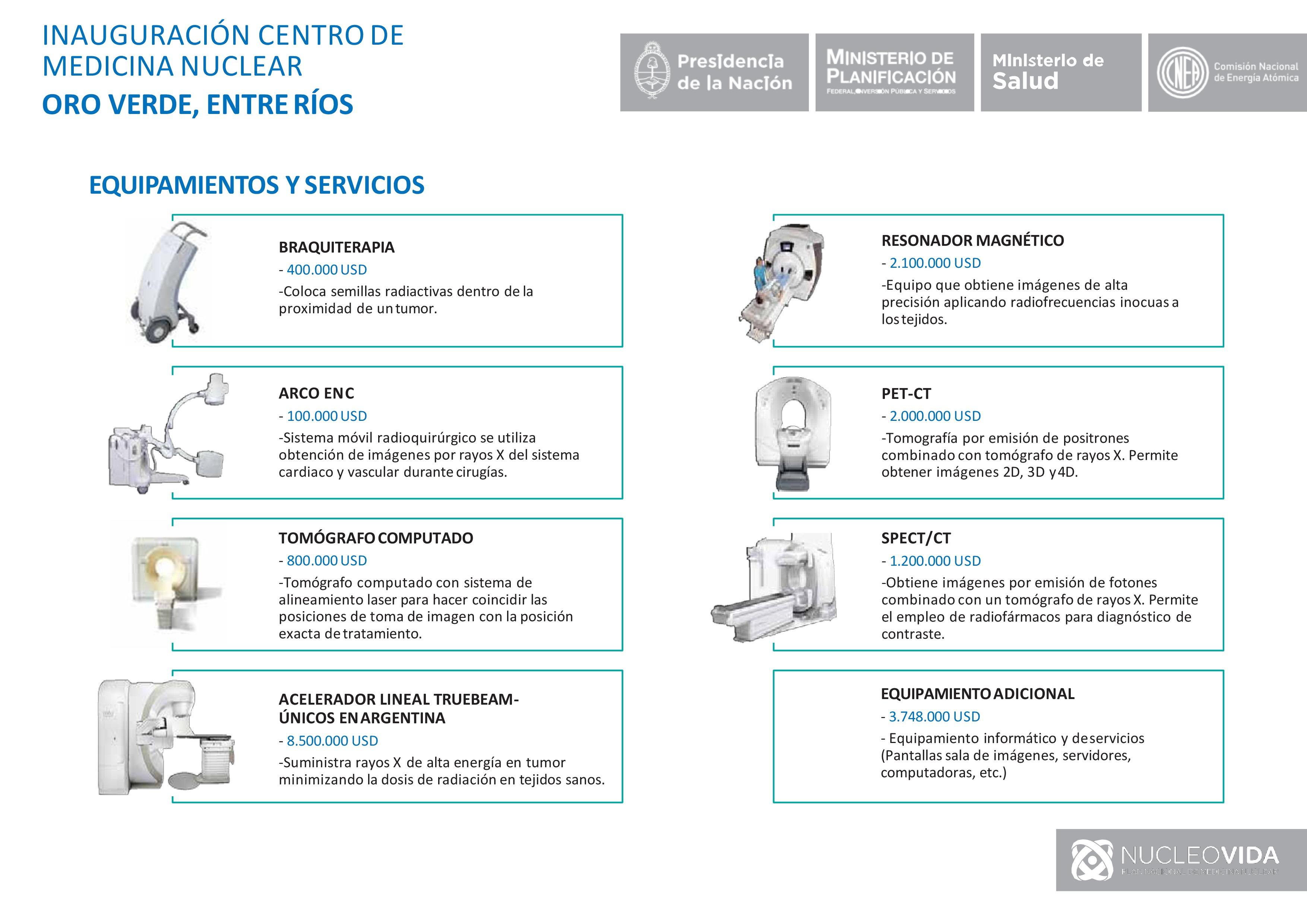Entre Ríos: Inauguramos el Centro de Medicina Nuclear Oro Verde.