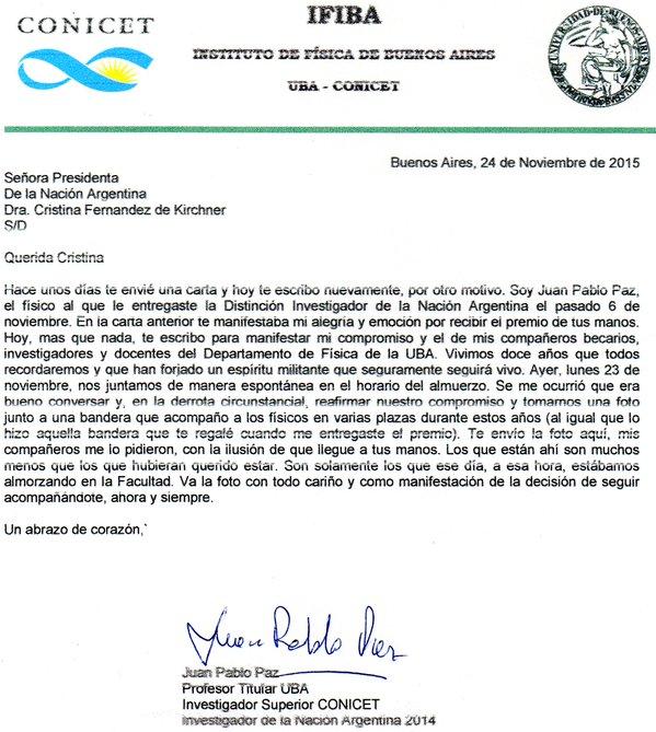 Carta CONICET