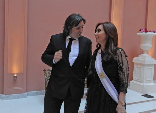 Máximo y Cristina Kirchner