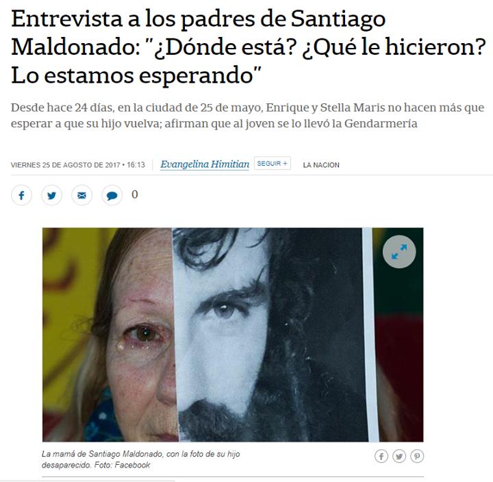 Santiago Maldonado.